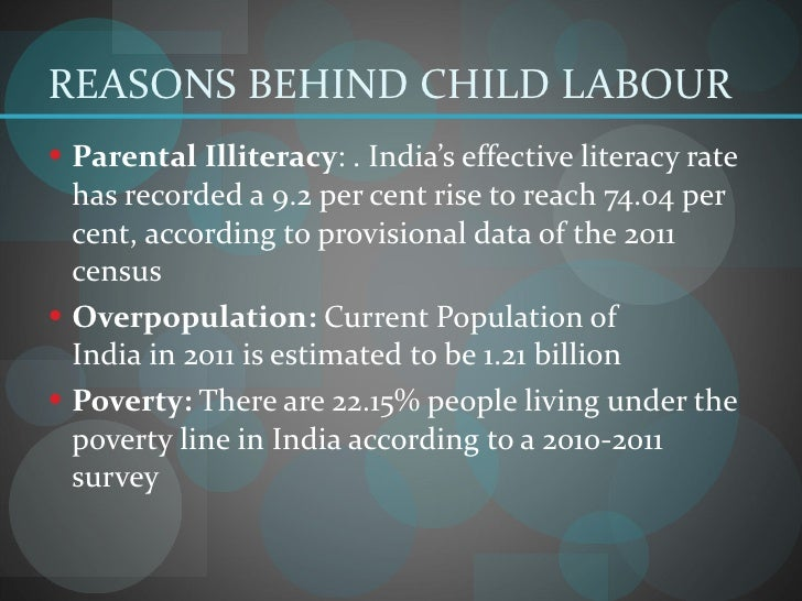Causes and Effects of Child Labor