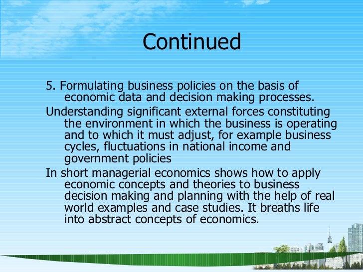 Business economics case study
