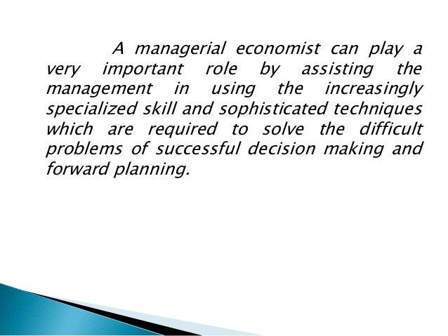 Managerial economist  Slide 2
