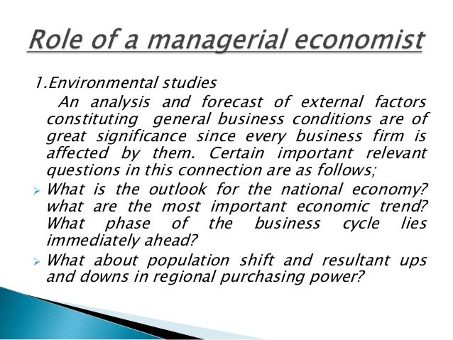 Managerial economist  Slide 3