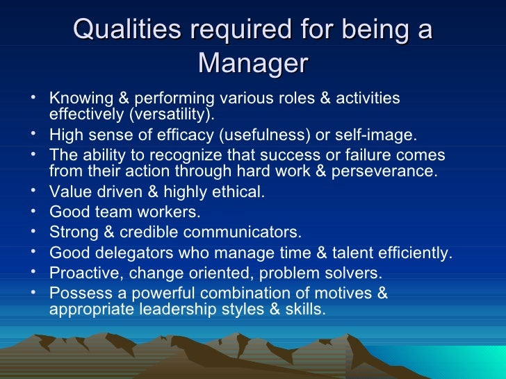 Characteristics of good manager ppt to pdf