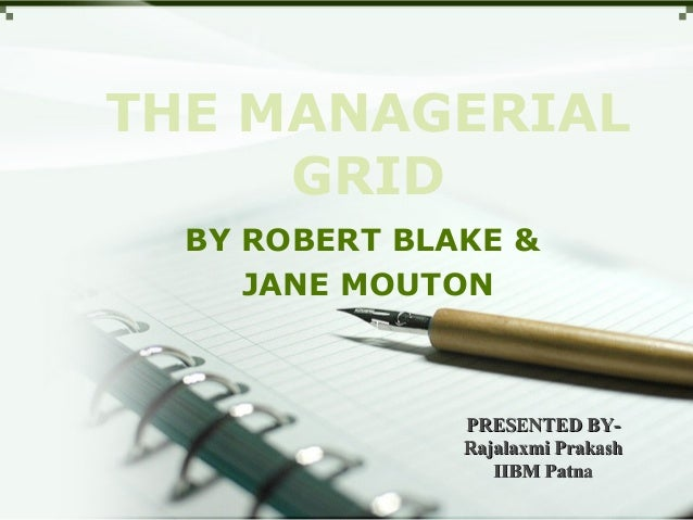 the managerial grid pdf