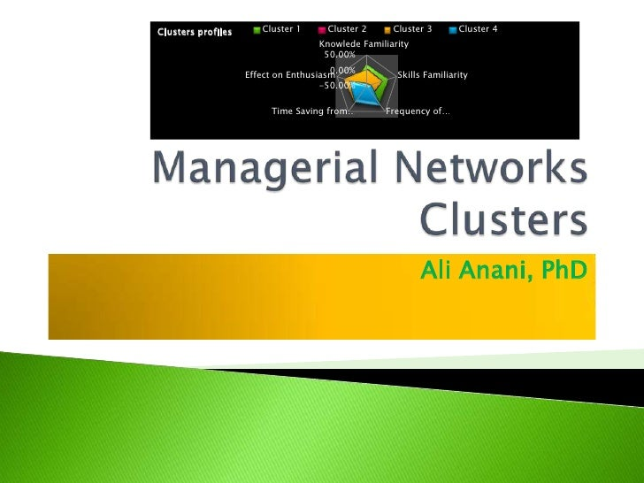 Managerial Networks Clusters<br />Ali Anani, PhD<br />
