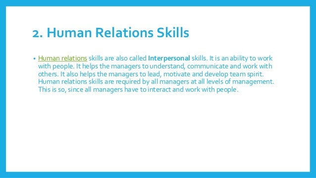 relationship of conceptual human and technical skills to management level