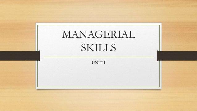 maragerial skills