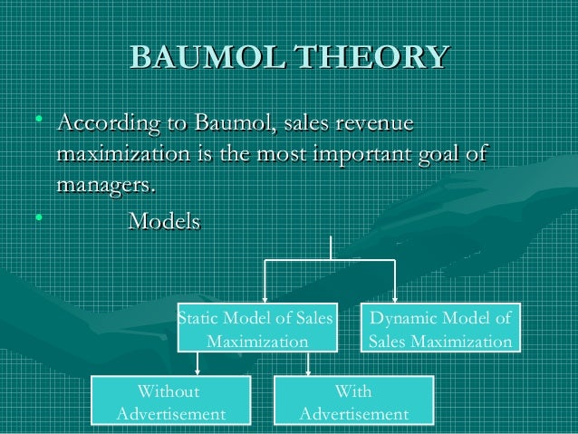 baumols sales maximization model slideshare