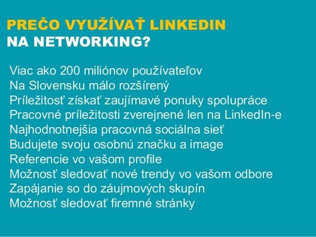 Networking - ako na to na LinkedIn Slide 3