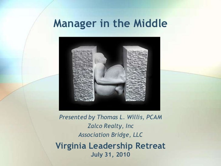 Manager in the Middle<br />Presented by Thomas L. Willis, PCAM<br />Zalco Realty, Inc<br />Association Bridge, LLC <br />V...