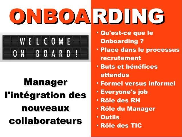 Onboarding: Manager l'intégration en entreprise Slide 2