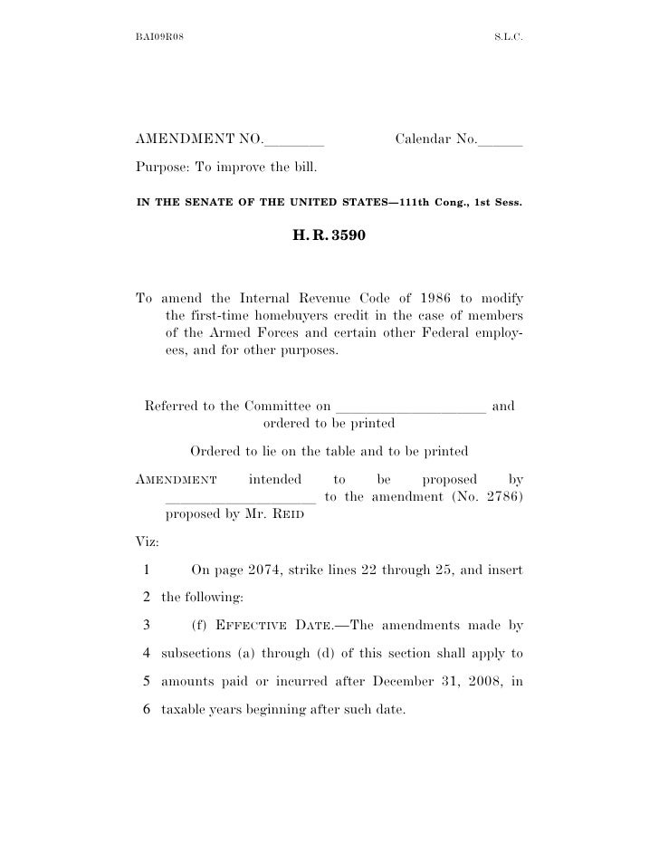 BAI09R08                                                   S.L.C.     AMENDMENT NO.llll                           Calendar...