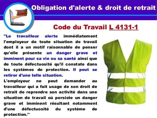 code du travail droit de retrait