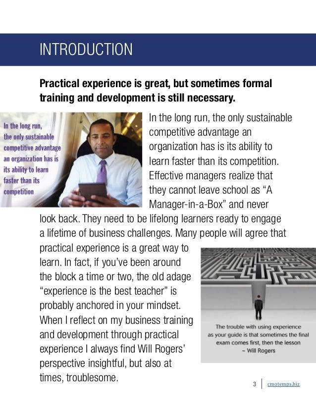 Managers as Lifelong Learners Slide 3