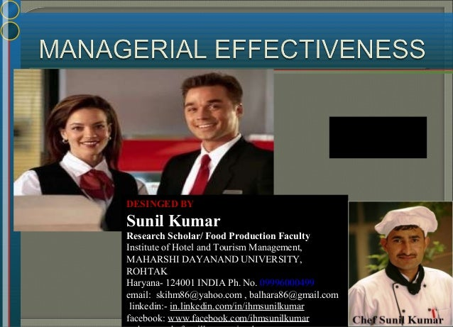 DESINGED BY Sunil Kumar Research Scholar/ Food Production Faculty Institute of Hotel and Tourism Management, MAHARSHI DAYA...
