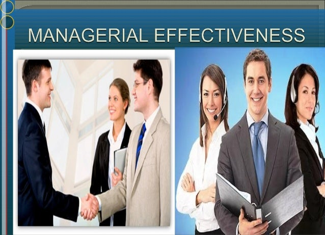 Effective & successful managers Successful managers – defined operationally in terms of the speed of their performance wi...