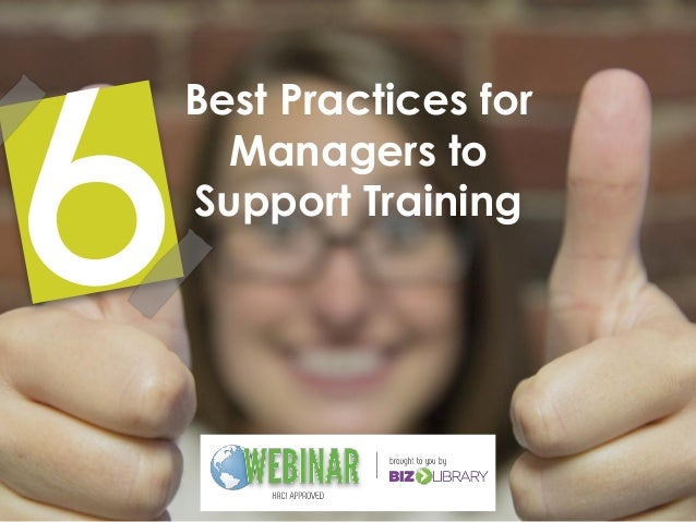 Best Practices for Managers to Support Training