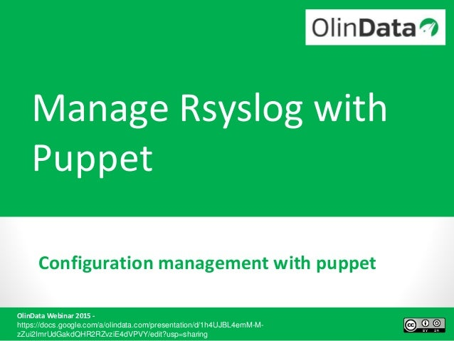 Webinar - Manage RSYSLOG with Puppet