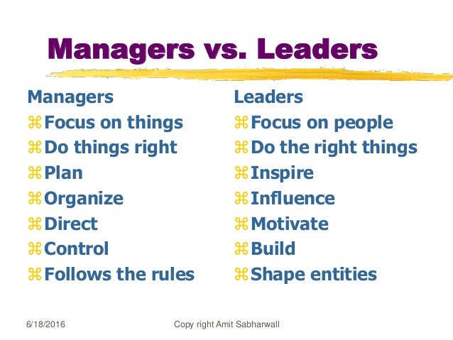 10 Defining Qualities that Separate Leaders from Managers