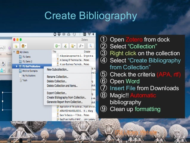 Manage your research with APA and Zotero