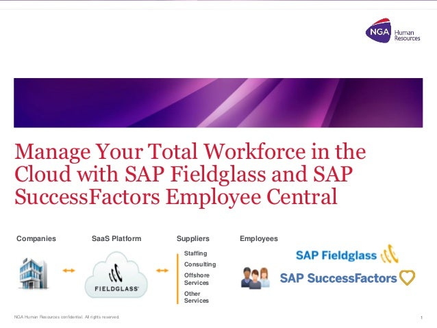 NGA Human Resources confidential. All rights reserved. Manage Your Total Workforce in the Cloud with SAP Fieldglass and SA...