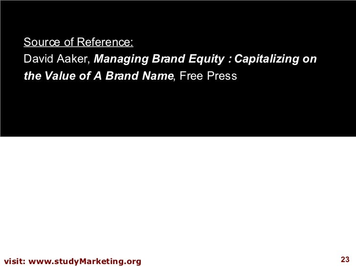Managing Brand Equity by David A. Aaker (ebook)