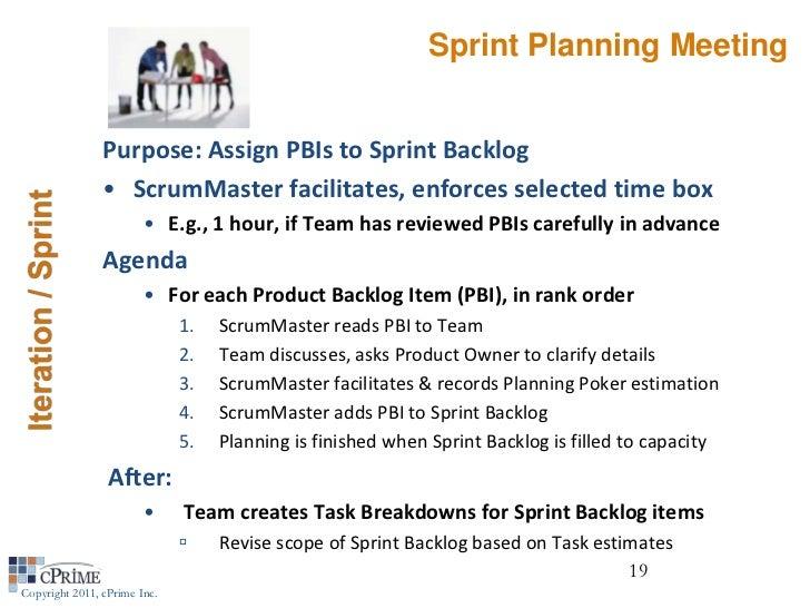 sprint retrospective meeting template - agile webinar managing distributed teams