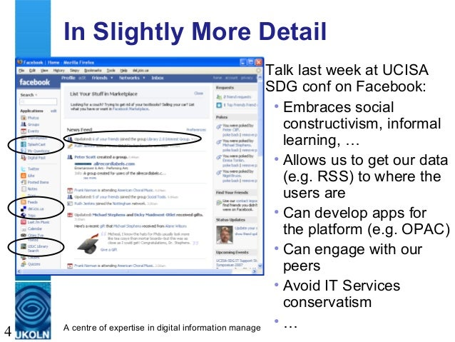 A centre of expertise in digital information management 4 In Slightly More Detail Talk last week at UCISA SDG conf on Face...