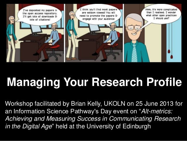 Open Practices for theConnected ResearcherPresentation by Brian Kelly, UKOLN on 25 October 2012for an Open Access Week eve...