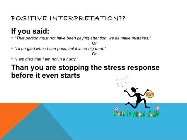 Managing stress-presentation