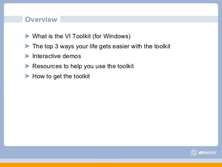 Managing VMware With PowerShell Slide 2