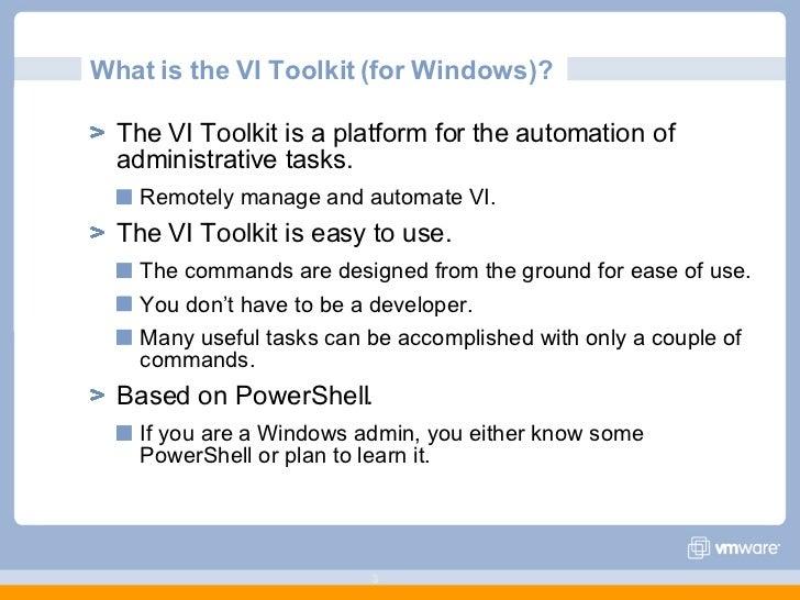 Managing VMware With PowerShell Slide 3
