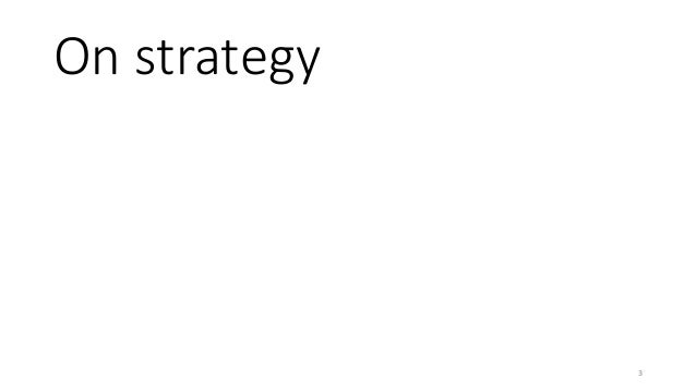 On strategy 3