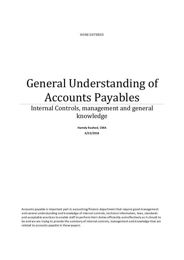 Managing accounts payables process