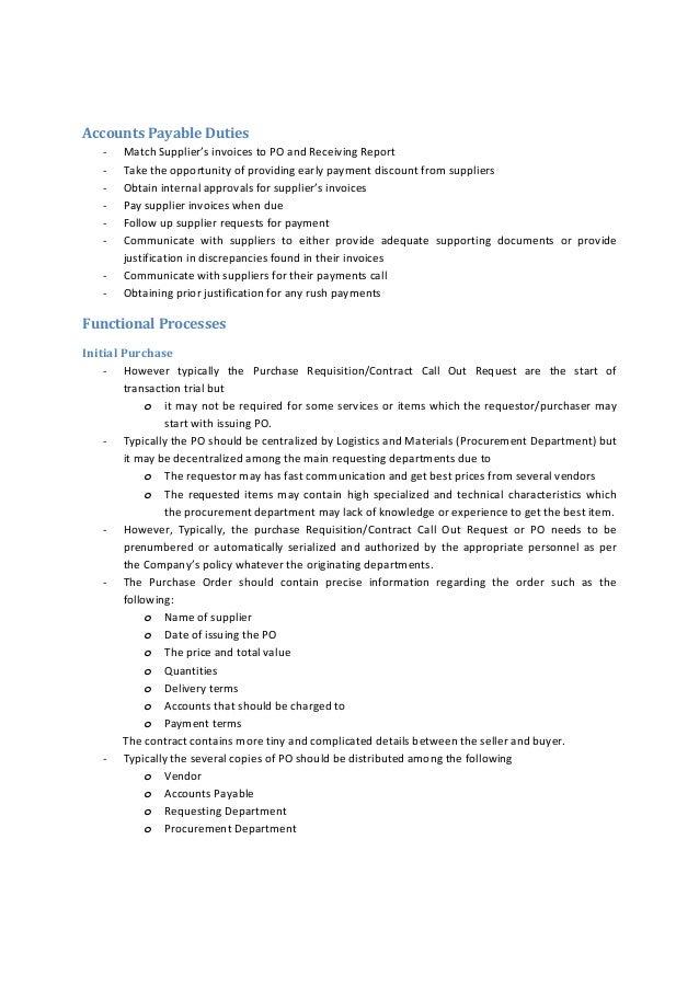 accounting payable duties