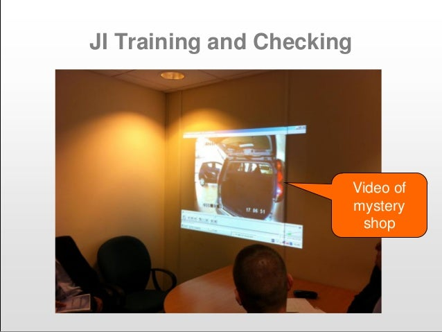 JI Training and Checking Video of mystery shop