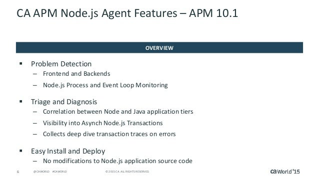 Hands-On Lab: Managing and Monitoring Node.js Made Easy with CA Appli…
