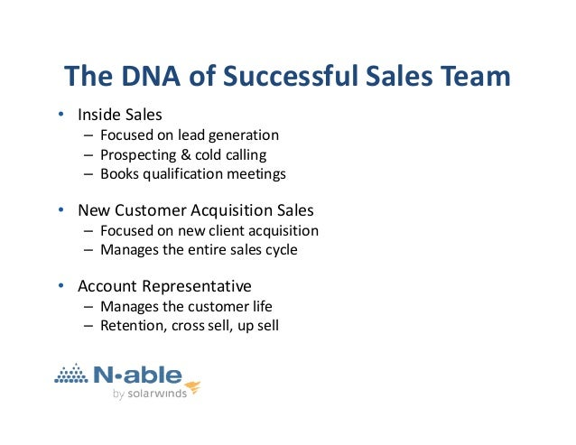 Managing A World Class Sales Team Partner N Able June 2014