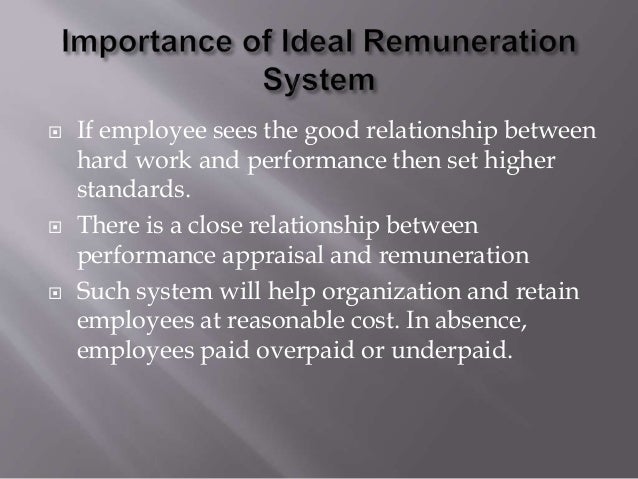 importance of remuneration to employees