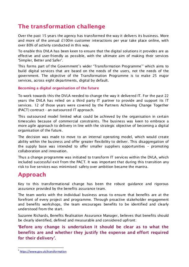 Managing benefits at the DVLA Slide 2