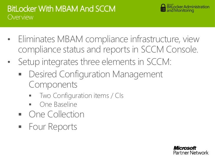 Managing bitlocker with MBAM