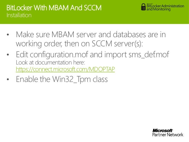 Managing bitlocker with MBAM