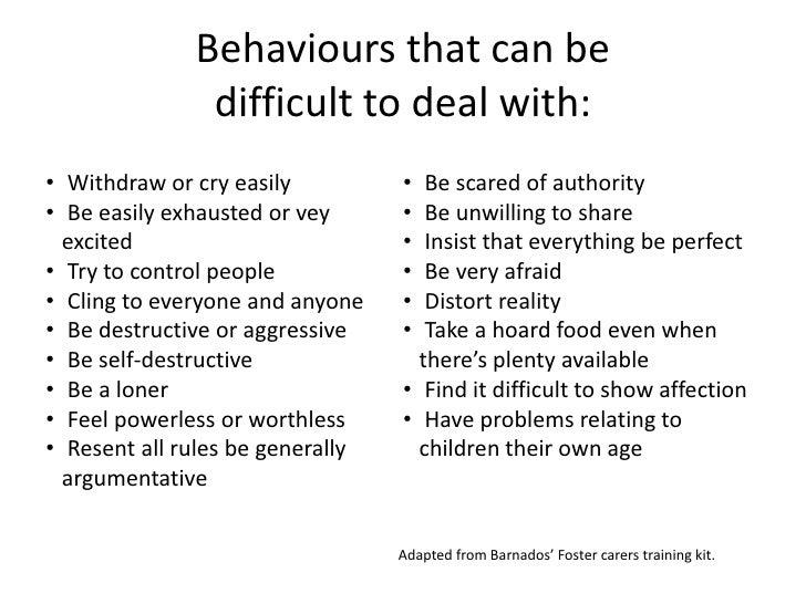 Managing challenging behaviours Slide 3