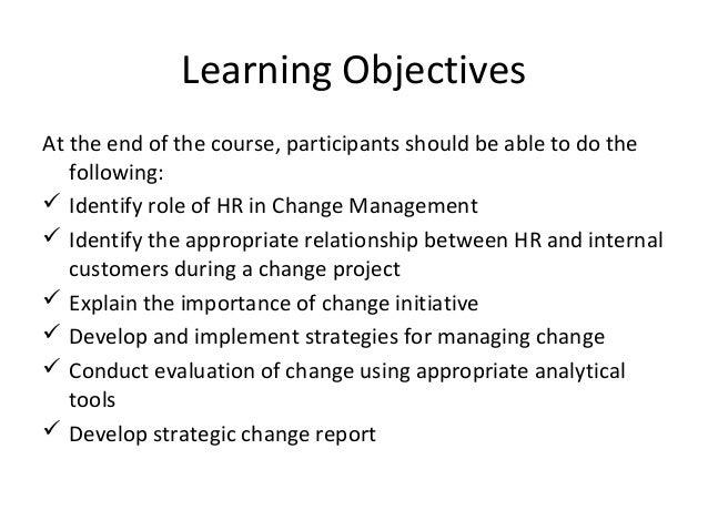 Managing Change: The Role of HR Slide 2
