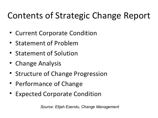 strategic change essay