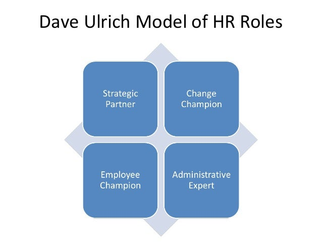 hrm ulrichs model David kryscynski, co-director dave ulrich, principal wayne brockbank,  principal jacqueline slade, project manager 2016 hr competency model.