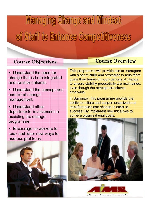 Course Objectives                               Course Overview                                 This programme will provid...