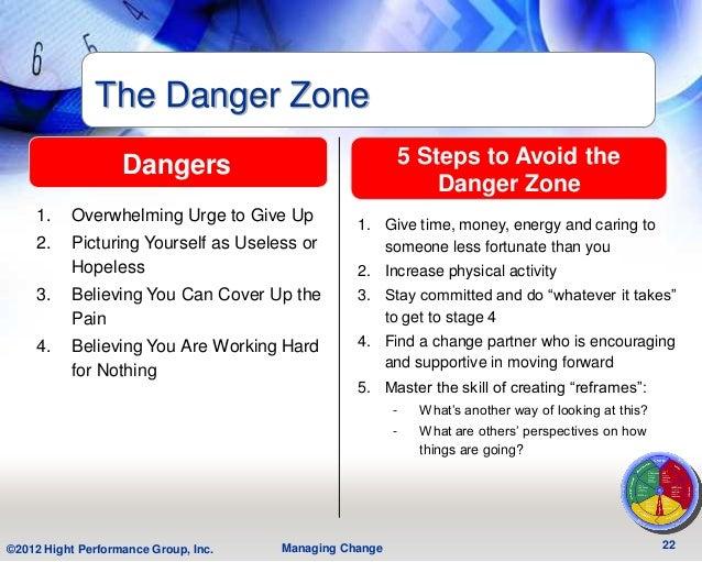 The Danger Zone                   Dangers                              5 Steps to Avoid the                               ...
