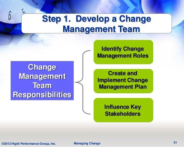 Step 1. Develop a Change                               Management Team                                                    ...