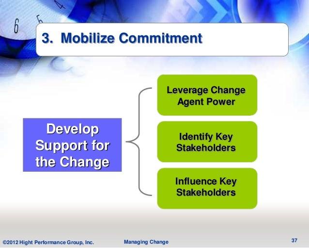 3. Mobilize Commitment                                                    Leverage Change                                 ...