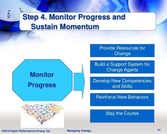 Step 4. Monitor Progress and                Sustain Momentum                                                          Prov...