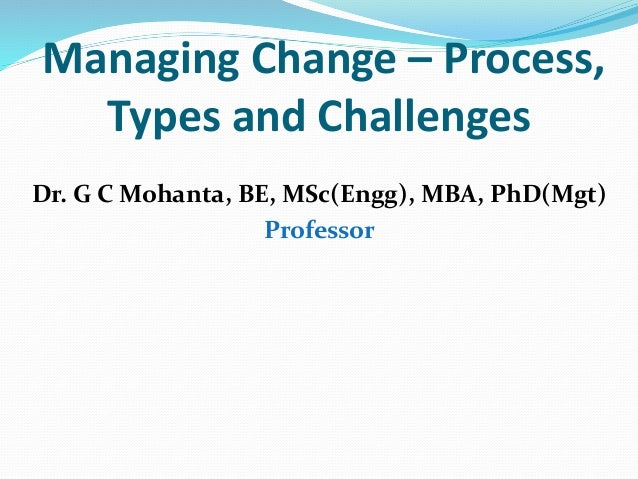 The core challenges of managing change